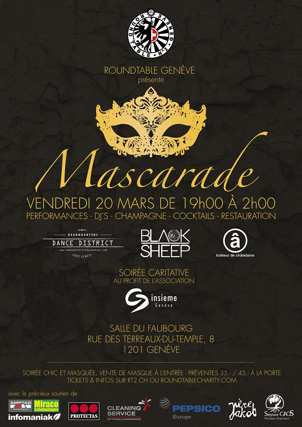 Round Table Charity Party 2020 - Mascarade